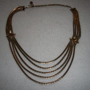 Vintage Silver NOUVEAU Multi Strand Necklace